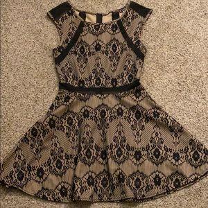 Trixxi Lace over Nude Dress